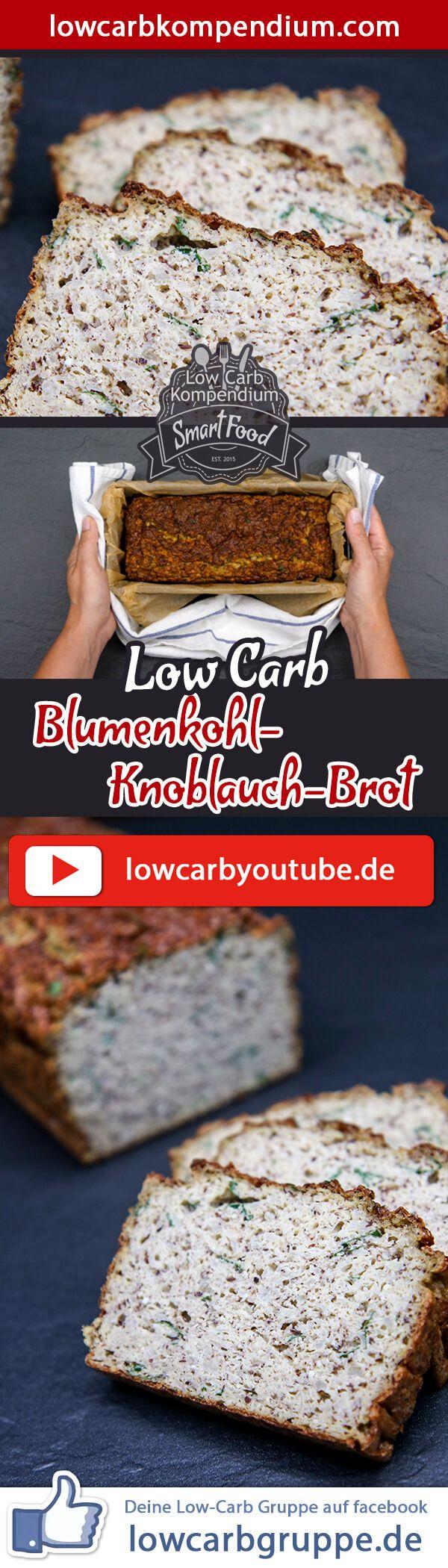 (Low Carb Kompendium) – Unser herzhaft-saftigesBlumenkohl-Knoblauch-Brot ist ein absoluter Hit! Dieses Low-Carb Rezept ist eine besonders leckere Alternative zu herkömmlichen Broten und eignet sich obendrein auch als Beilage ganz pur zu herzhaften Gerichten. Um das Low-Carb-Brot lange genießen zu können, empfehlen wir das Brot einzufrieren und bei Bedarf Teile wieder aufzutauen. Und nun wünschen wir dir viel Spaß beim Nachbacken, LG Andy & Diana.