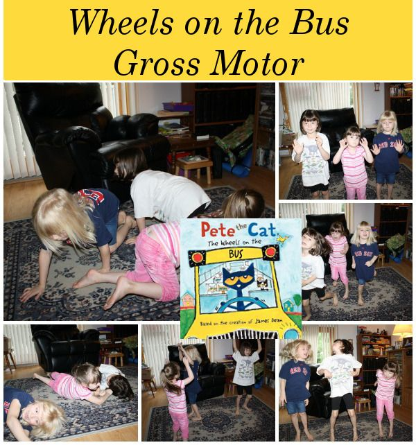 Wheels on the Bus: Gross Motor with Pete the Cat!