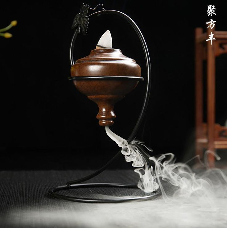 Creative Home Decor Chinese Ceramic Crafts Hanging Incense Burner Office/livingroom/yoga Purifying Air Aromatherapy Decoration