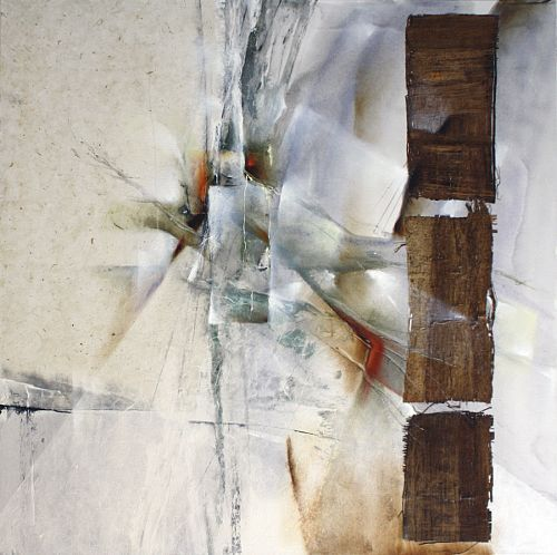 """Annette Schmucker, """"Weiße Komposition II"""" With a click on 'Send as art card', you can send this art work to your friends - for free!"""