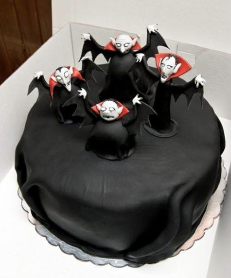 Best idea for a Halloween birthday cake!
