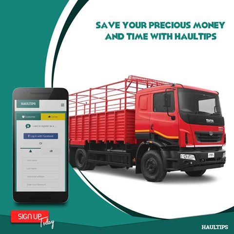 Book a Truck Online and save Time and Money with Haultips   #Onlinetruckbooking,  #trucktransportation, #besttrucktransporters