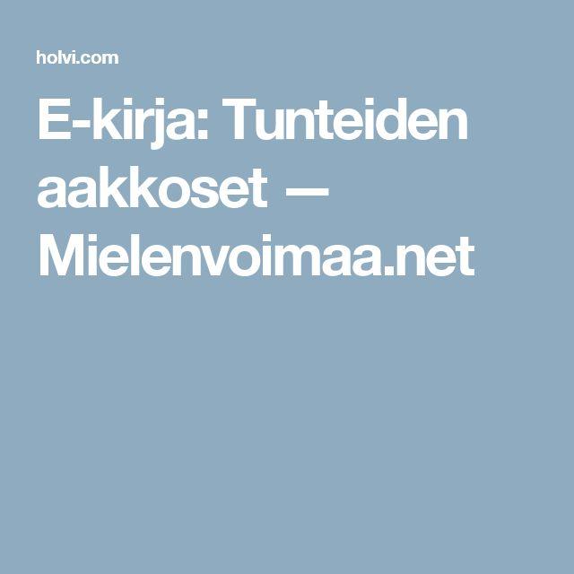 E-kirja: Tunteiden aakkoset  — Mielenvoimaa.net