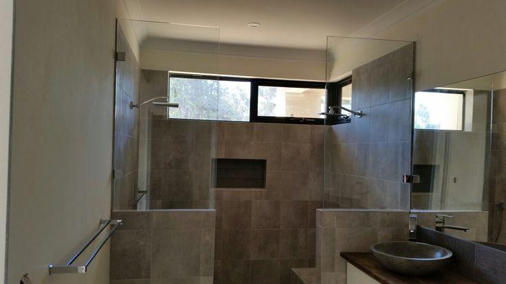 #10mm #frameless #glass #shower #panels by A Splash of Glass  Www.asplashofglass.com.au