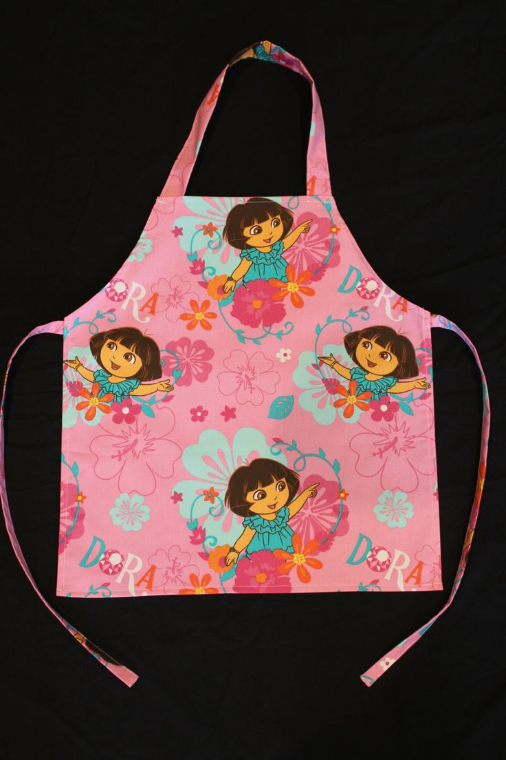 Dora Small Childrens Apron, Girls Apron by NessasCreationsAus on Etsy