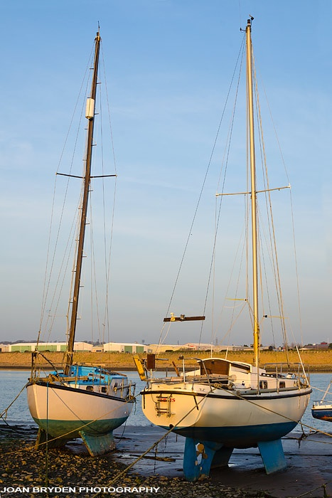 Boats in the Walney Chanel, Barrow in Furness, Cumbria
