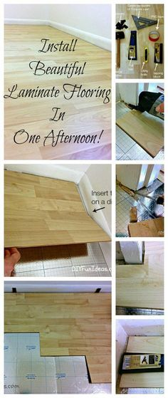 How To Install Beautiful Laminate Floors In One Afternoon Floor
