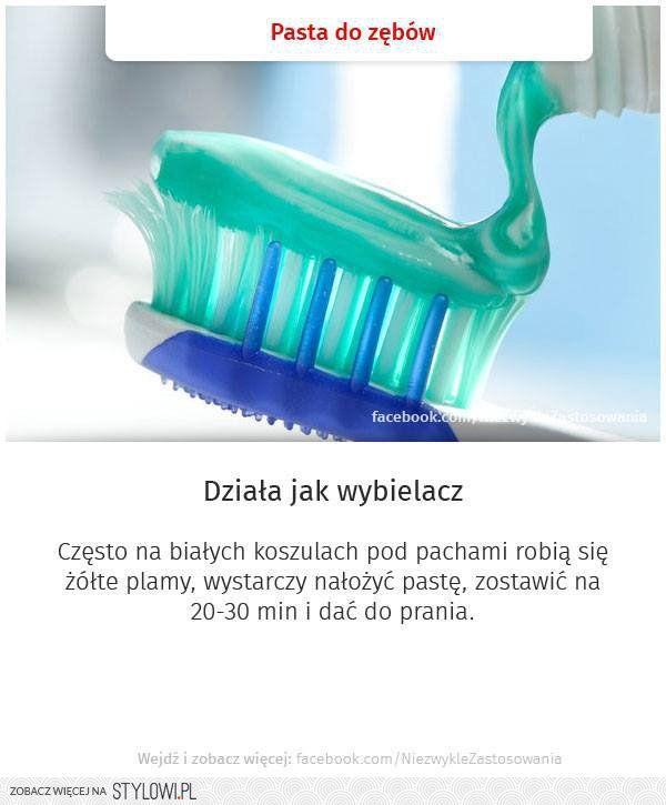pasta do zębów- działa jak wybielacz