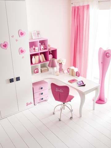 Nia En Su Cuarto Habitacin Para Nia Gris Y Rosa Decoracin Infantil - Armarios-para-nia