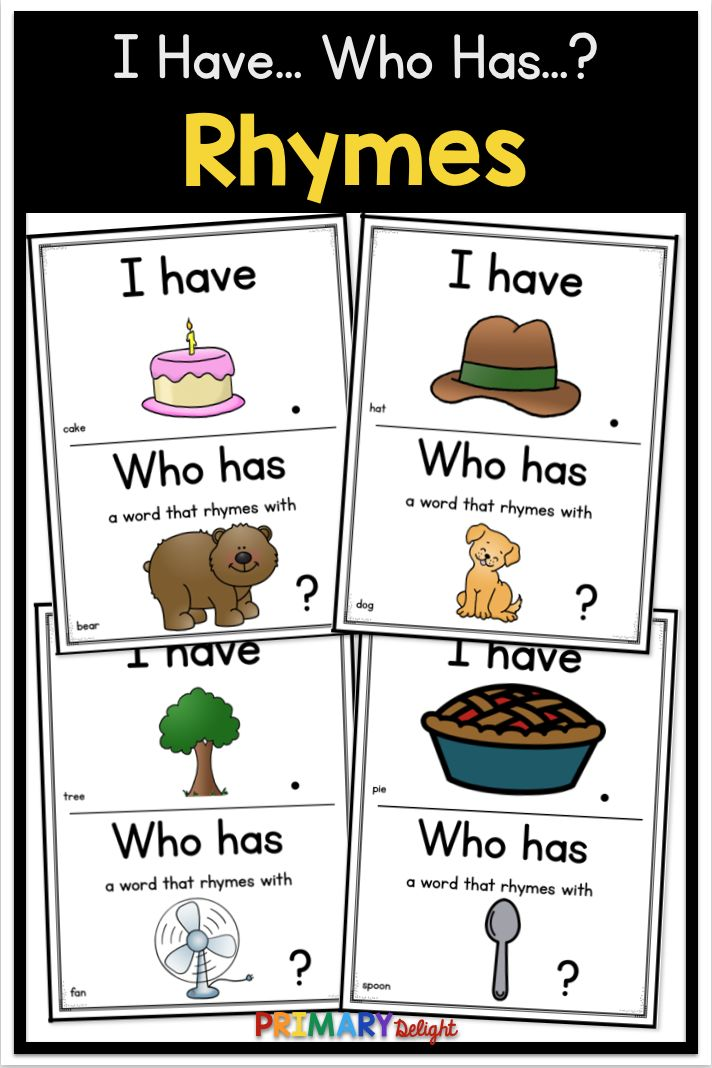 A Quick And Fun Rhyme Game For Kindergarten And Preschool Use This I Have Who Has Activity When Tea Rhyming Activities Rhyming Words Rhyming Word Game Kindergarten rti rhyming and