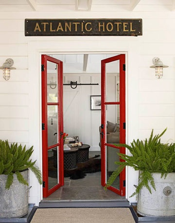 House Beautiful - Red doors w glass insets  -  lots of colorful doors posted on this link