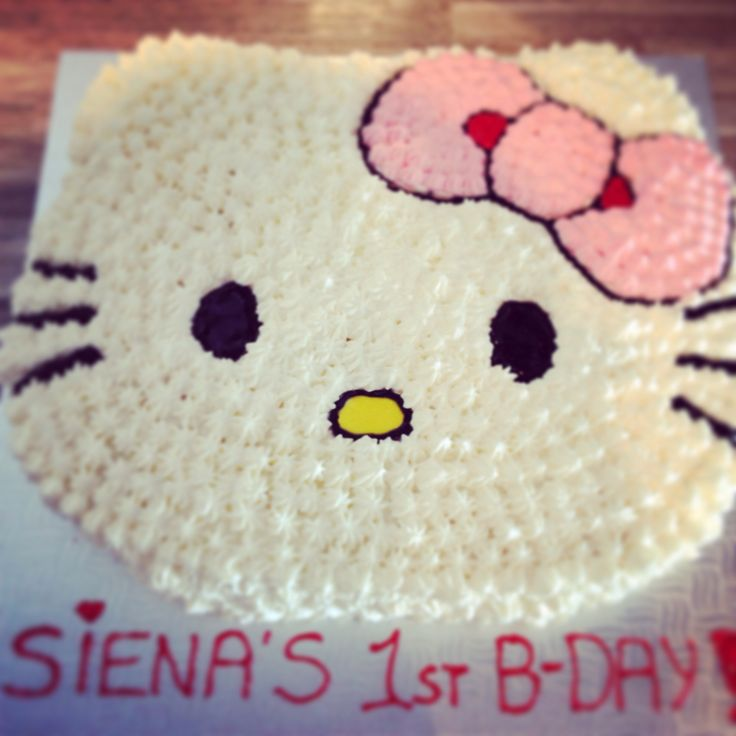 Hello Kitty Icing Cake Design : 17 Best images about Cakes - Hello Kitty on Pinterest ...