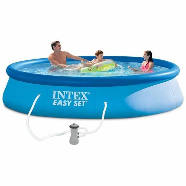 Intex Kit Piscine Autoportee Easy Set O396 X 83 Cm In 2020 Intex Easy Set Pools Intex Pool
