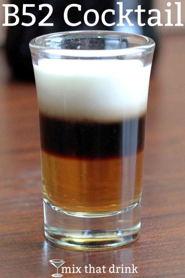 The classic B52 shot recipe layers Kahlua, then Bailey's Irish Cream, and then Grand Marnier on top. The flavor of a B52 is described by some bartenders as a little like caramel.