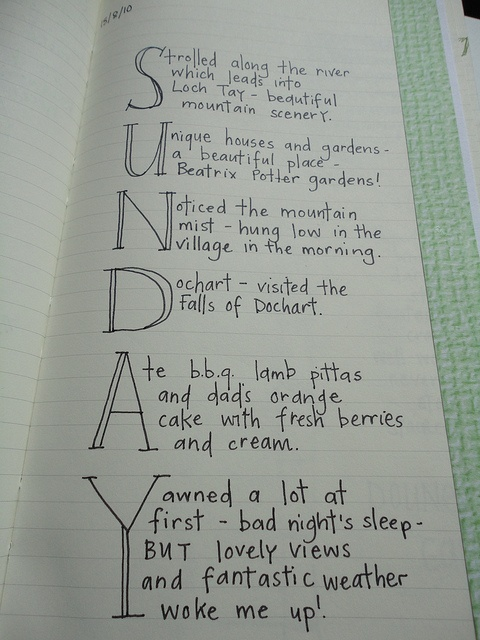 journaling by letter