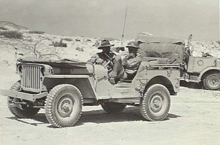 Willys MB Jeep in the service of Australian 2/48th infantry battalion in Egypt's western desert, 20 Jul 1942