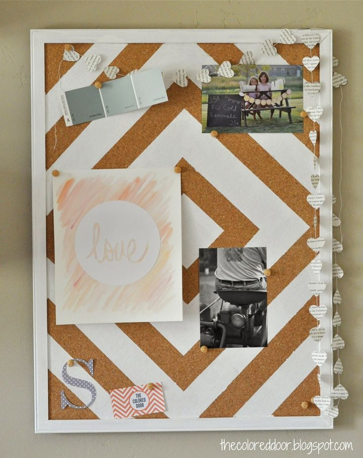 Super easy DIY project, you can find these bulletin boards any where!  painted bulletin board | the colored door