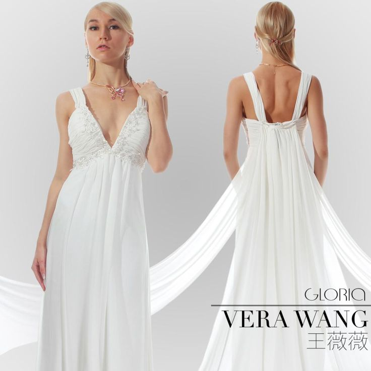 Greek style goddess wedding gown gloria by vera wang for Grecian goddess wedding dresses