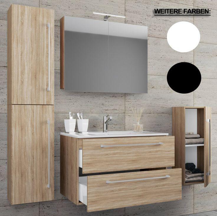 5 Stuck Wascheservice Mit Spiegelschrank Badinos Products Badezimmer Set Spiegelschrank Waschbecken