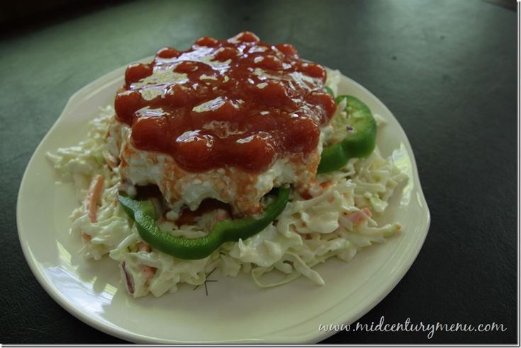 Jellied Cottage Cheese and Tomato Salad