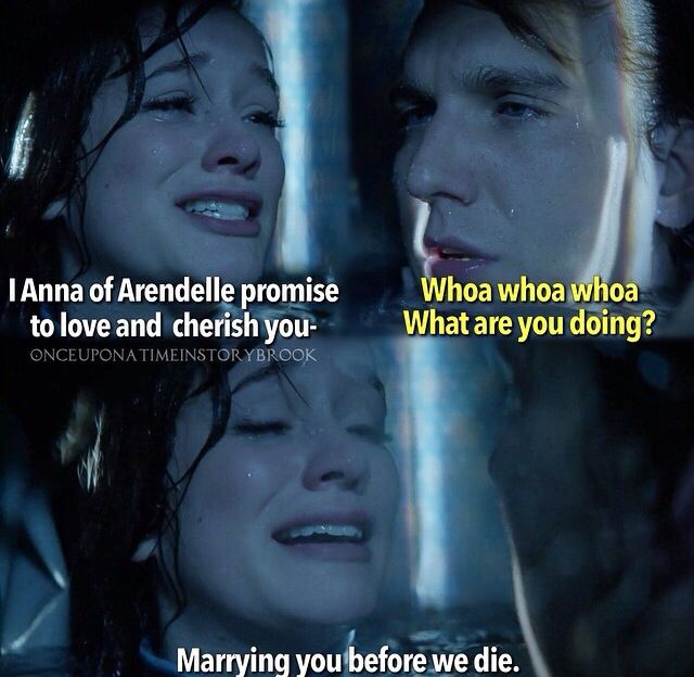 This is when I lost it. Anna is always so positive and optimistic, so when she broke, I couldn't take it. At least Kristoff stayed strong for her!! Ugh their love is so beautiful