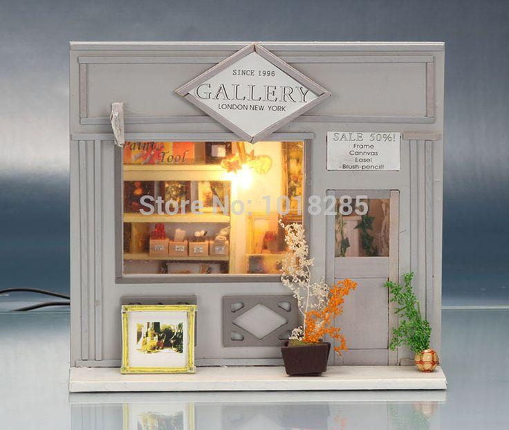13511 сделай сам кукольный дом миниатюрный магазин модель строительство комплекты 3D ручной работы деревянные мини кукольный домик европейские магазины   галереякупить в магазине Fujian coast Happiness Ltd.наAliExpress