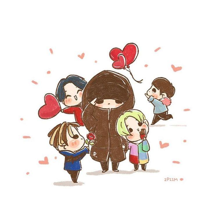 "2piim: ""[fanart] #BIGBANG Happy Valentine's Day ♥️ """