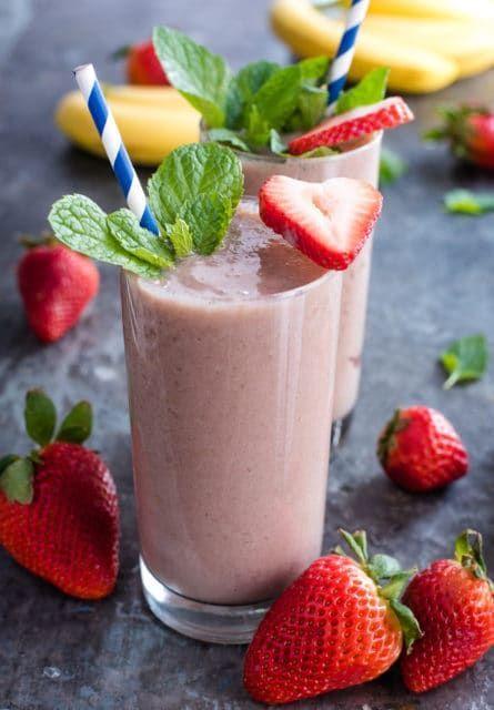 Strawberry Banana Smoothie Recipe The Adventure Bite