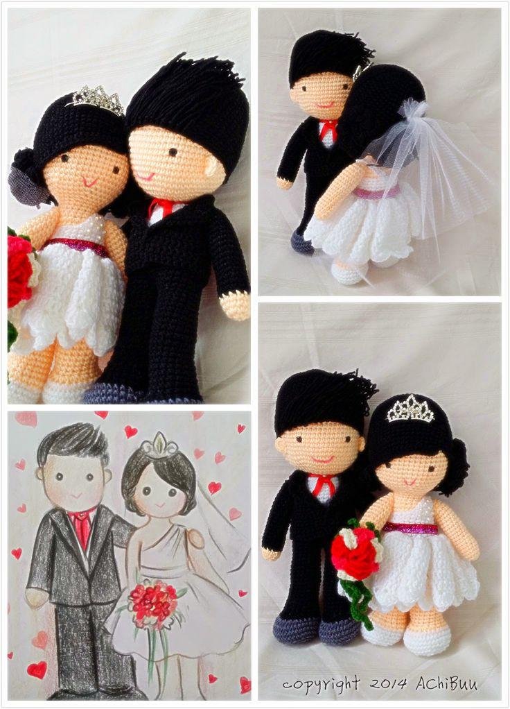 Achibuu Handmade Wedding Dolls For Bridal Car