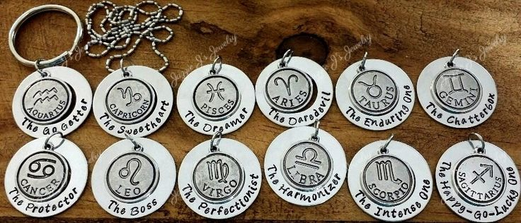 Zodiac Necklace, Zodiac Symbol Necklace, Capricorn, Aquarius, Pisces, Aries, Taures, Gemini, Cancer, Leo, Virgo, Libra, Scorpio, Sagittarius by JazzieJsJewelry on Etsy