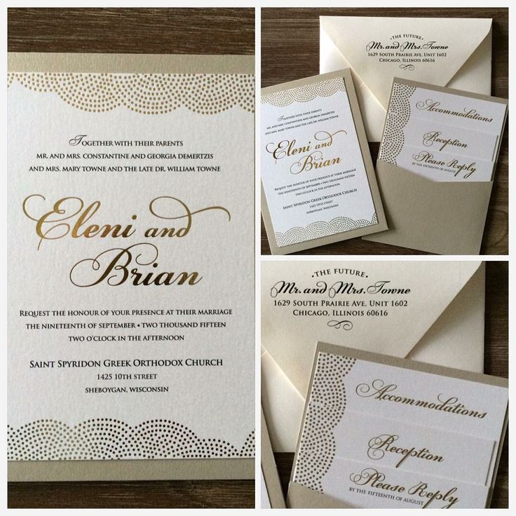 how much do invitations for wedding cost%0A Loving the trend of foil invites  Here is a gold foil panel pocket  wedding