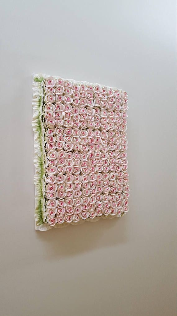 Hand Made Pink Blush paper Rose Wall Hanging 46cm wide x 64cm high  hand made  Postage costs listed are estimate only Postage available please pm me your postcode and town  Pick up available from grantville or Cheltenham Payment by PayPal