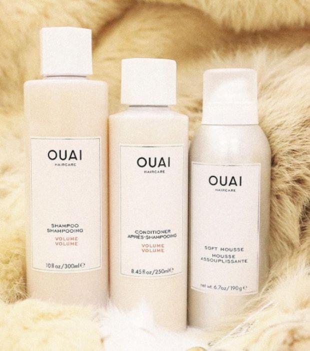 Shampooing volume (30 €), après-shampooing volume (28 €) et mousse assouplissante (30 €)