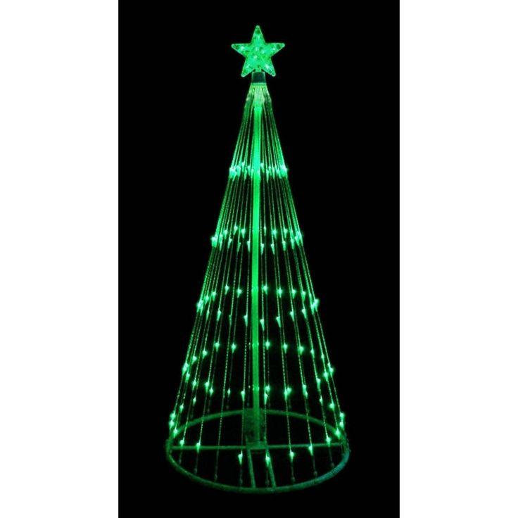 4' LED Light Show Cone Christmas Tree Lighted Yard Art Decoration