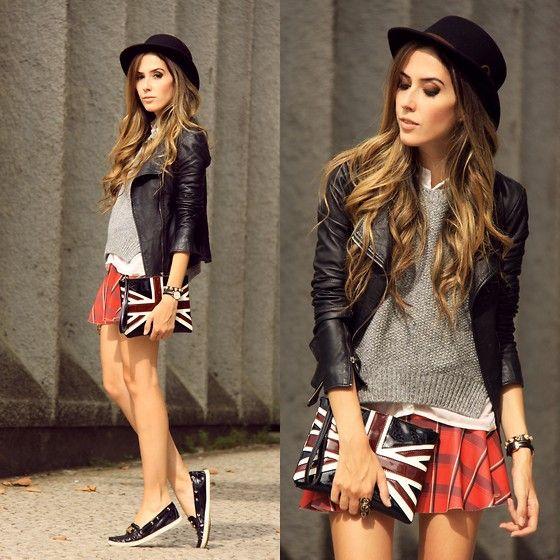 Displicent Skirt, Dafiti Clutch, Boda S Kins Jacket, Oasap Hat
