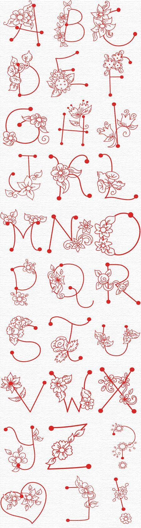 flower letters for art journal inspiration