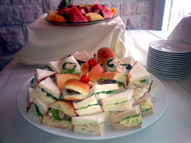 Mini sandwich platter from our High Tea Shower package.