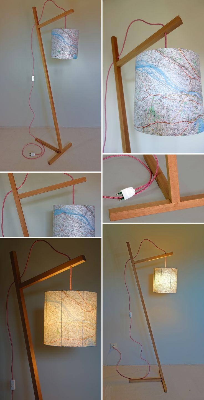 Lampe Sur Pied En Bois Massif Lamp LightCandlesFloor