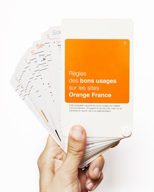 regles des bons usages sur les sites Orange France by #smithee pour #Orange #usage #mobile