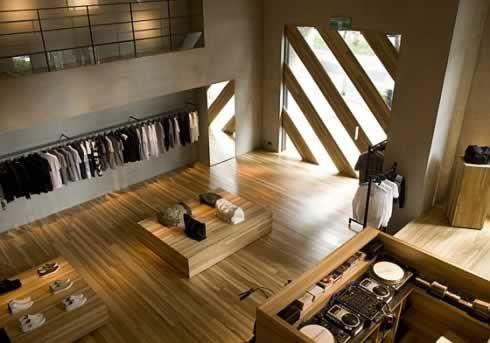 Amber light wood #Retail #Interior #shopping