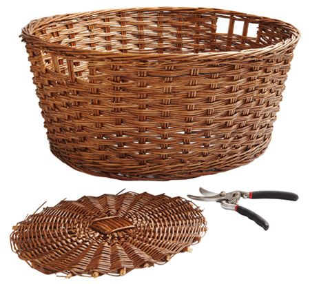 Use a simple, elegant basket.