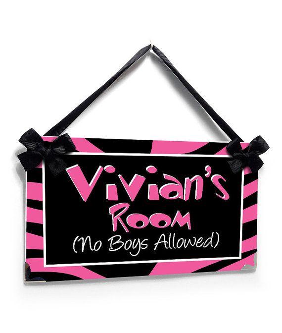 no boys allowed tennagers bedroom door sign pink and black zebra print    PL2286. 17 best ideas about Bedroom Door Signs on Pinterest   Harry potter
