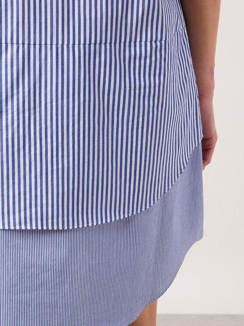 Купить Derek Lam 10 Crosby многослойное платье-рубашка в полоску .