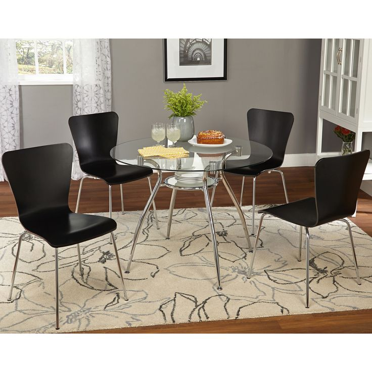 Simple living 5 piece itza dining set by simple living for 5 piece living room furniture sets