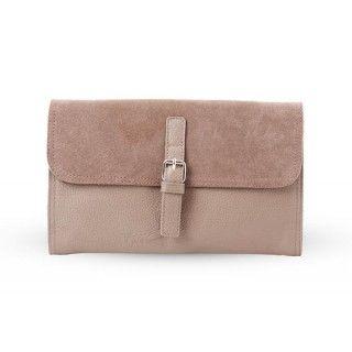Silvana - geanta din piele naturala - taupe