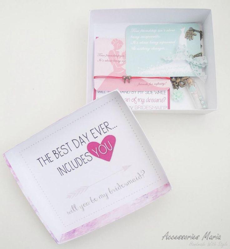 #boxes #bridal party #bridesmaid #cute #friends #invitations #preety #wedding