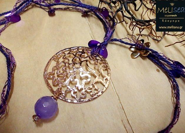 Rose gold & purple...<3 this pendant