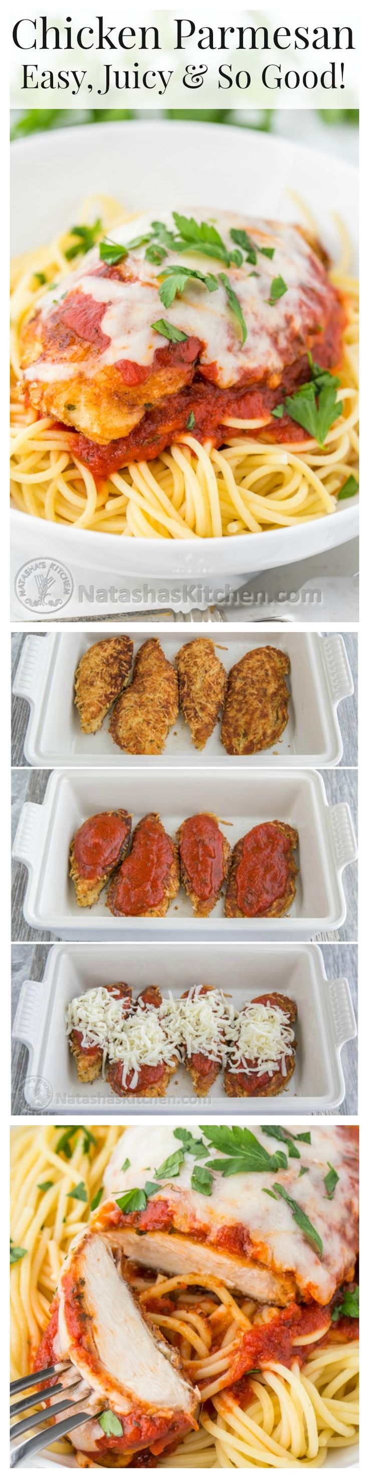 Everything about this Chicken Parmesan is good. Make it once and you'll make it again and again! A family favorite! @natashaskitchen