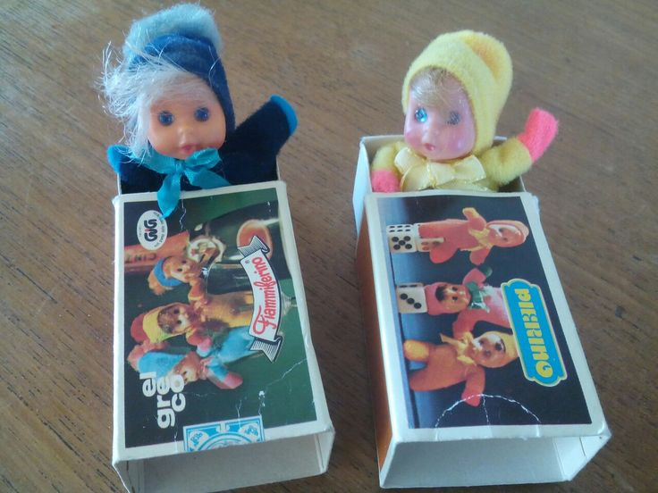 Vintage matchbox dolls