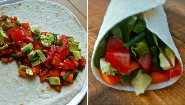gezonde vegetarische wraps recept